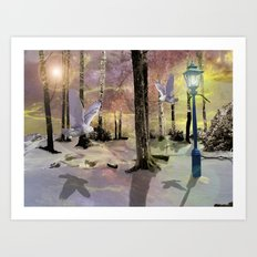 A story book Christmas Art Print