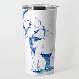 Blue Elephant Travel Mug