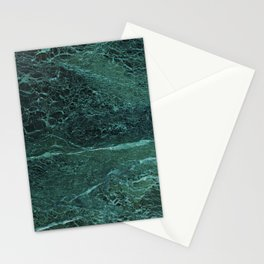 Dark Green Marble Texture Stationery Cards