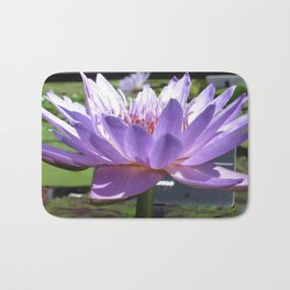 Glowing Purple Water Lily Bath Mat