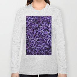 Purple giant garlic flowers Long Sleeve T-shirt