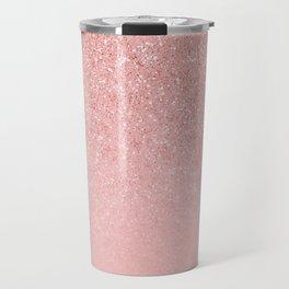 Rose Gold Glitter Cascade Travel Mug