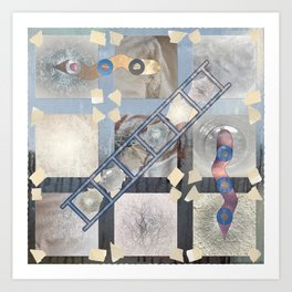 Snake and Ladder 05.  Art print. Art Print