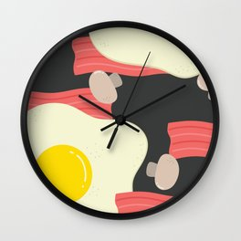 Egg and bacon Wall Clock