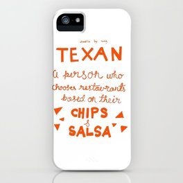 Chips and Salsa in Orange iPhone Case