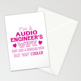 Audio Engineer's Wife Stationery Cards
