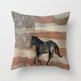 Freedom Run  Throw Pillow