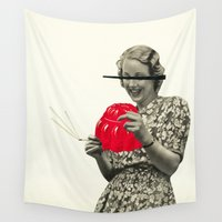 cigarette Wall Tapestries featuring Jelly Addict by Cassia Beck