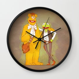 Han the Frog and Chewwie bear Wall Clock