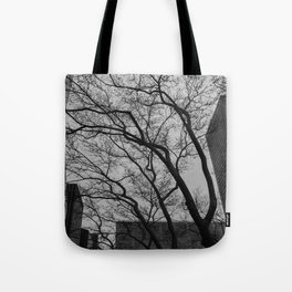 Tree silhouettes in New York City Tote Bag