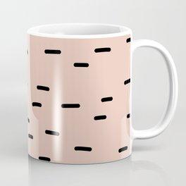 Peach dash abstract stripes pattern Coffee Mug