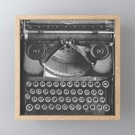 Vintage Typewriter - Before Email Framed Mini Art Print