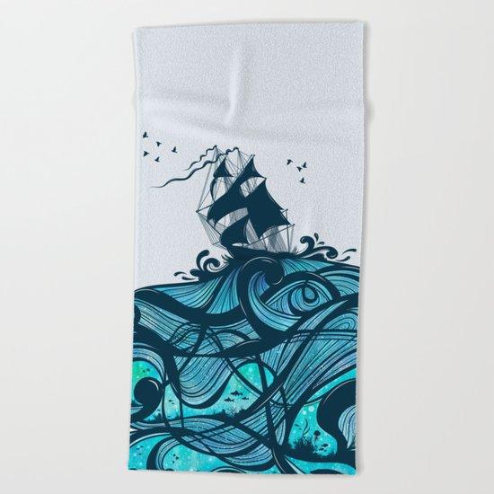 Upon The Sea Beach Towel
