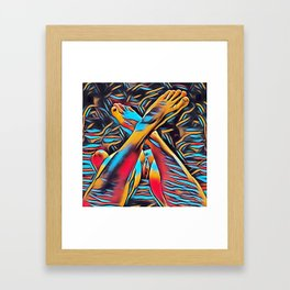 3766s-BH Abstract Leg Arch Vulva Art Feet Up Rendered Abstract by Chris Maher Framed Art Print