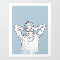 niall Art Prints featuring Niall Horan by Cécile Pellerin