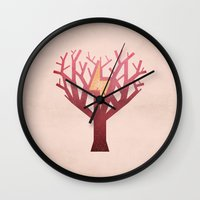 jane eyre Wall Clocks featuring Jane Eyre by Christian Jackson
