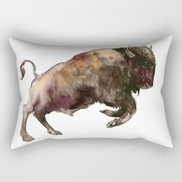 Bison, Bull Rectangular Pillow