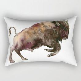 Bison, Bull, animal woodland, bison art, wildlife design Rectangular Pillow