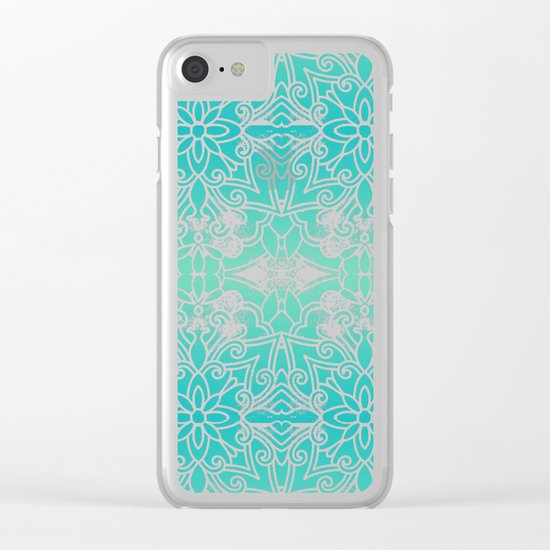 Water Mandala Clear iPhone Case