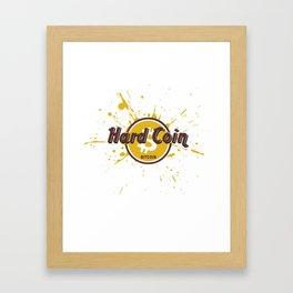 Hard Coin Bitcoin Framed Art Print