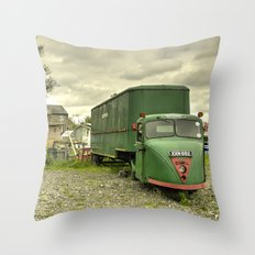 The Scammel Scarab Throw Pillow