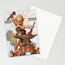 12,000pixel-500dpi - Joseph Christian Leyendecker - New Year Baby 1931 - Digital Remastered Edition Stationery Cards