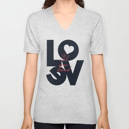 Love is all you need illustration, Valentine's Day, romantic gift for her, wedding day, romance Unisex V-Neck