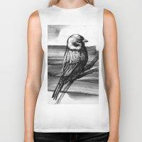sparrow Biker Tanks featuring Sparrow by Chuchuligoff