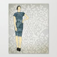 charmaine olivia Canvas Prints featuring Olivia by Aquamarine Studio