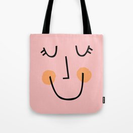 Winky Smiley Face in Pink Tote Bag