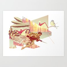 Lets All Fight! Art Print