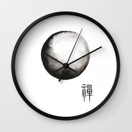 "Zen painting and Chinese calligraphy of ""Zen"" Wall Clock"