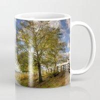 kentucky Mugs featuring Kentucky Road by JMcCool