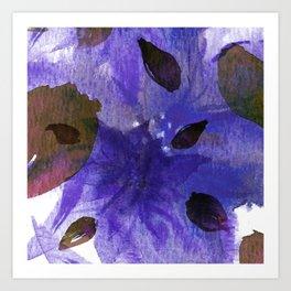Watercolor Purple Mirage Art Print