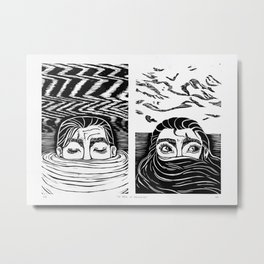 No Fear of Drowning Metal Print
