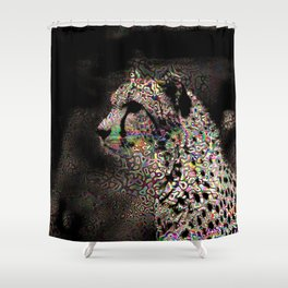 Abstract Animal - Cheetah Shower Curtain