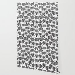 Beautiful pattern Indian Elephant with polka dot ornaments Wallpaper