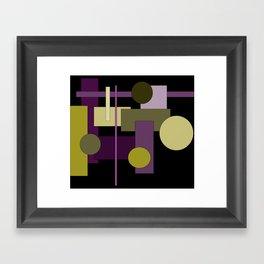 Abstract Geometric #1 Framed Art Print