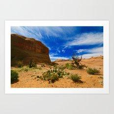 Utah Desert Landscape Art Print
