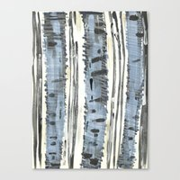 birch Canvas Prints featuring Birch by Sand Salt Moon