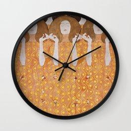 Beethoven Frieze by Gustav Klimt Wall Clock