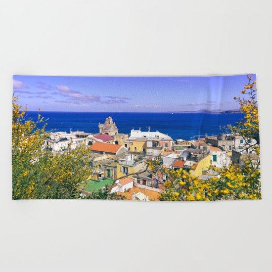 The Magic Of The Mediterranean Sea Beach Towel