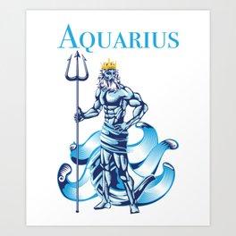 Aquarius Water Zodiac Gift Art Print