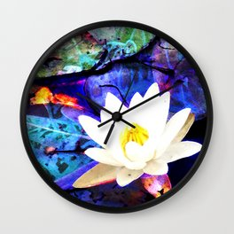 Electrifying Lotus Wall Clock