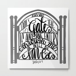 John 10:9 - Jesus saves Metal Print