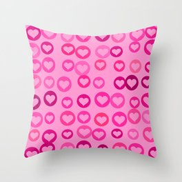 Love Hearts Throw Pillow