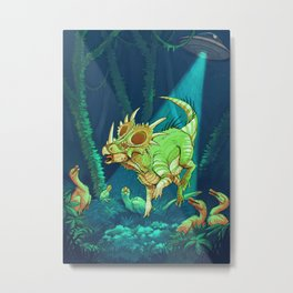 Cretaceous Abduction Metal Print