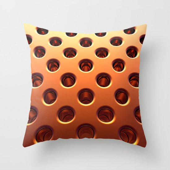Shiny Holes Throw Pillow
