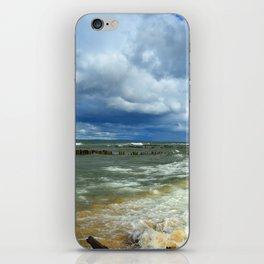 Waves at Whitefish Point iPhone Skin
