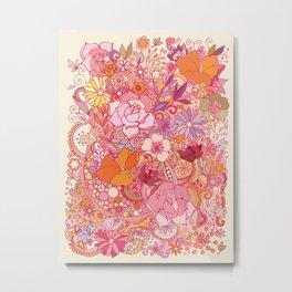 Detailed summer floral pattern Metal Print